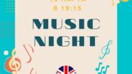 CREF приглашает взрослых 13 марта в 19:15 на мероприятие «Music Night»!
